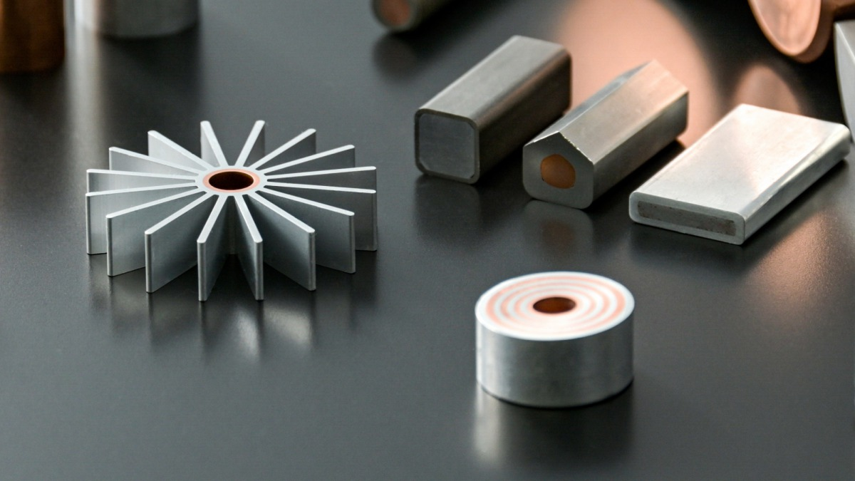 Various shaped clad tube and bar / Metal composite material