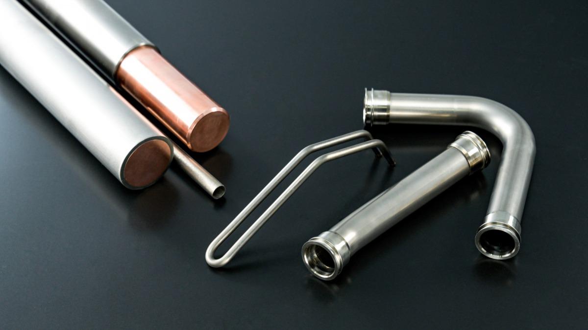 チタンクラッド棒材、チタン曲げ加工